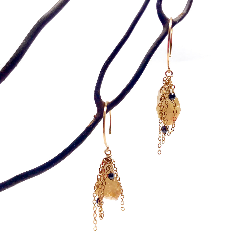 Citrine Crystal Earrings