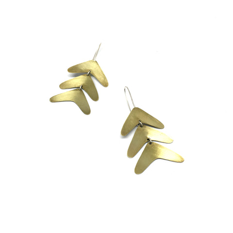 Abstract Earrings - Fern