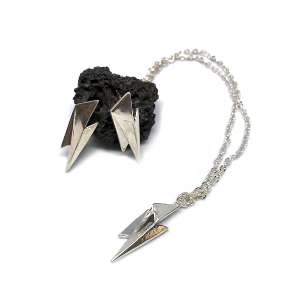 Faceted Lightening Bolt Necklace