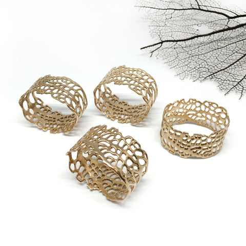 Sea Fan Napkin rings - Set of 4