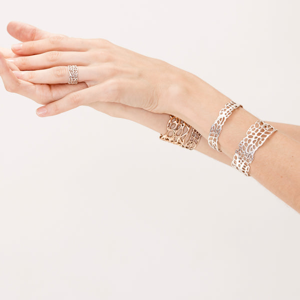 Sea Fan Coral Cuff- Thin