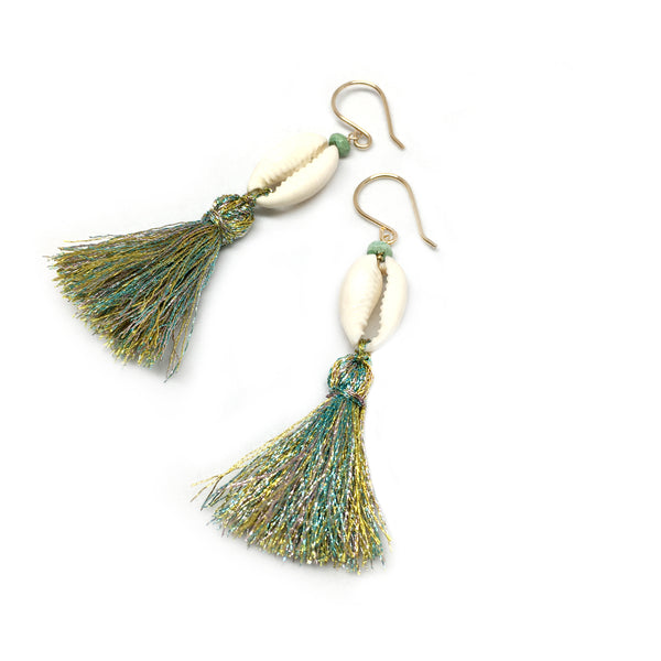 Summer Shell and Tassel Earrings