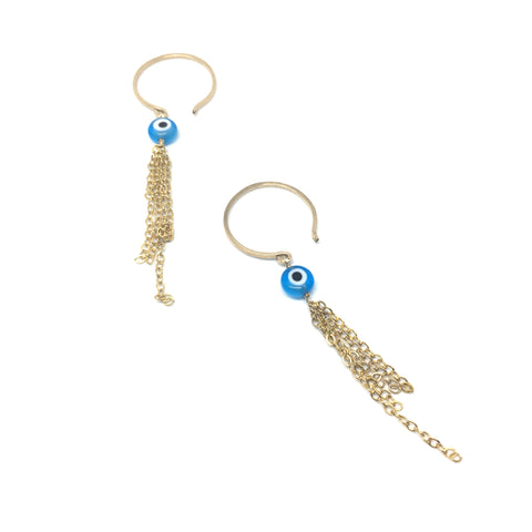 Turkish Eye Amulet Hoops