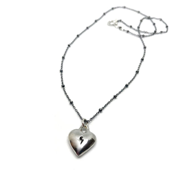 Love Rocks Heart Necklace