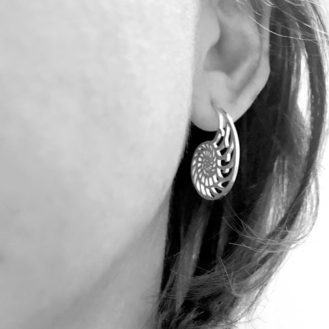 Nautilus Earrings - Mini