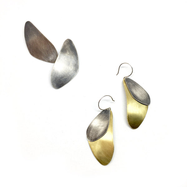 Abstract Earrings -LG Mussels
