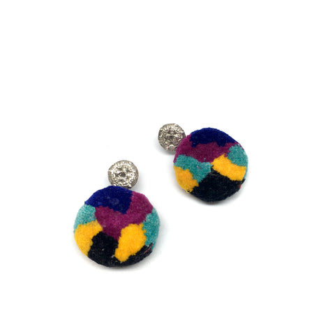 Tropical PomPom Earrings