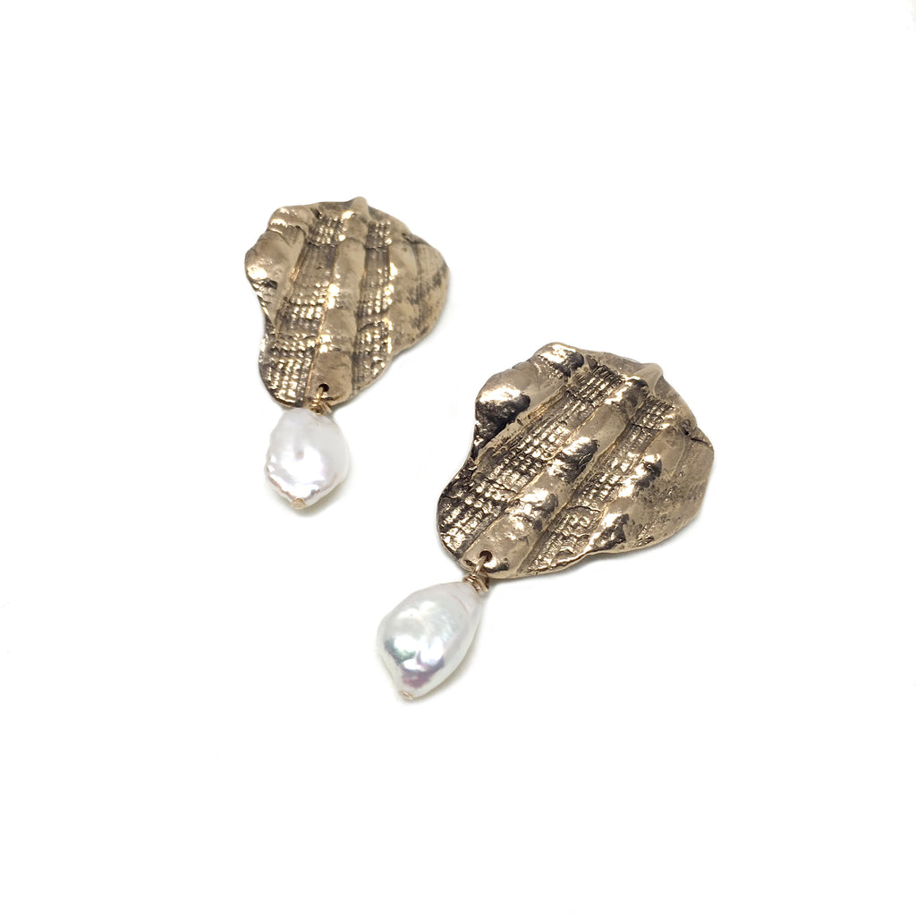 Fragment and Pearl Earrings