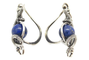 "Sterling Silver ""Orbit"" Ear Pins with Customizable Gemstones (20 stone options)"