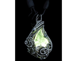 Seasonal Colors Leaf Necklace with Upcycled Electronic and Watch Parts, Steampunk/Cyberpunk Fusion