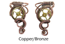 Load image into Gallery viewer, Small, Standard Steampunk Ear Cuff - Heather Jordan Jewelry