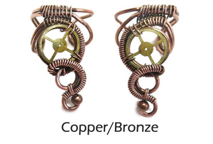 Small, Standard Steampunk Ear Cuff - Heather Jordan Jewelry