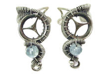 Load image into Gallery viewer, Custom Gemstone and Sterling Silver Small Steampunk Ear Cuff - Heather Jordan Jewelry