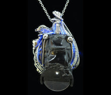 Load image into Gallery viewer, Blue Hex Nut LED Steampunk/Cyberpunk Fusion Pendant