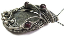 Load image into Gallery viewer, Trilobite Fossil and Almandine Garnet Wire-Wrapped Pendant