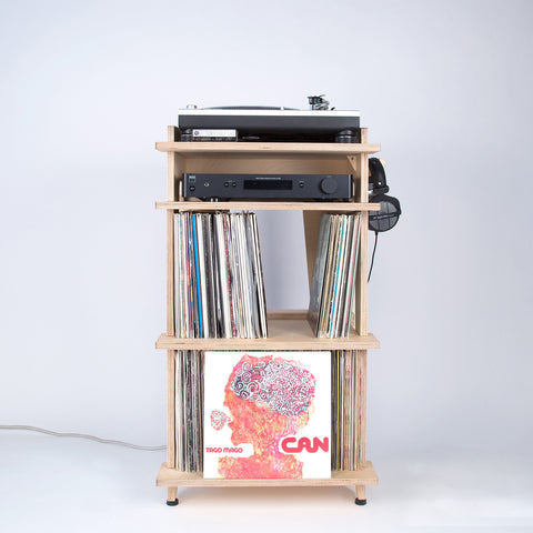 Line Phono Turntable Station Turntable Stand + Vinyl Record Storage, Made In The USA