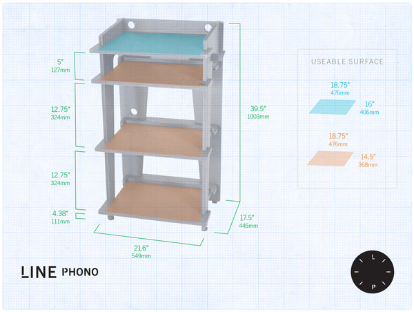Turntable Station By Line Phono Ideal Turntable Stand