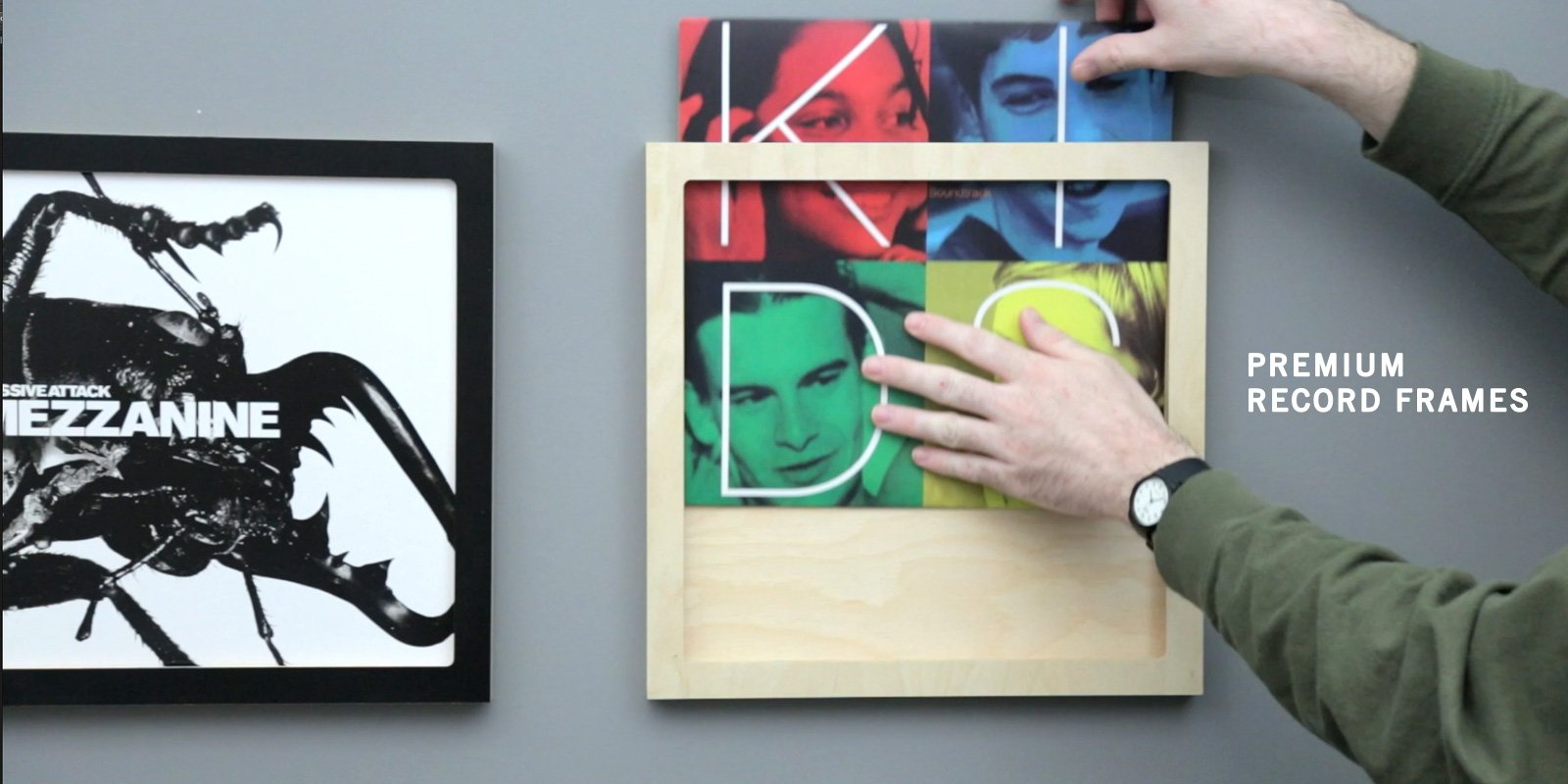 Line Phono Record Frames