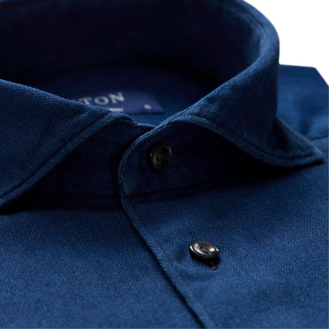 Soft Satin Indigo Shirt