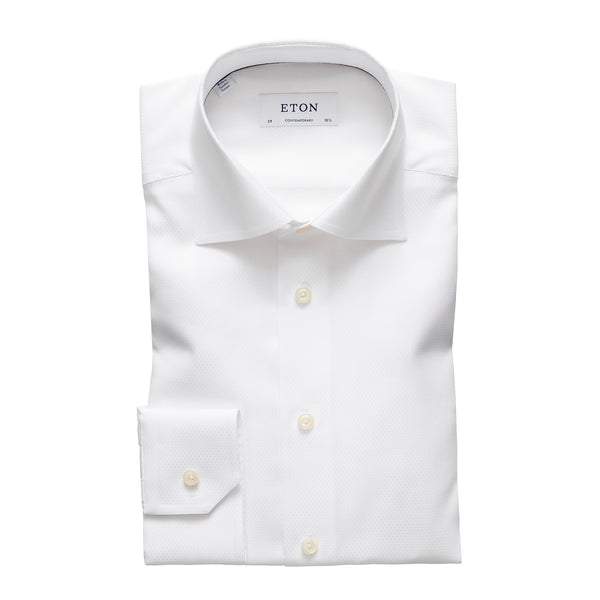 Contemporary Fit - Diamond Weave Twill Shirt