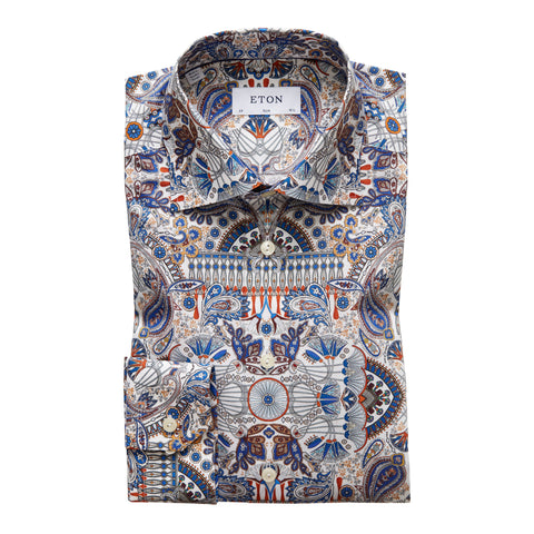 Ancient Paisley Print Twill Shirt