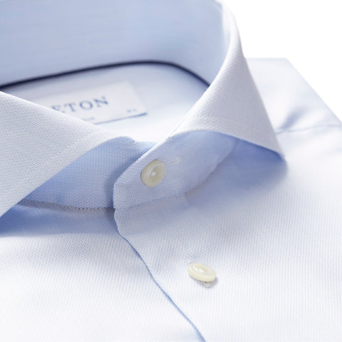 Micro Weave Cotton-Tencel Twill Shirt