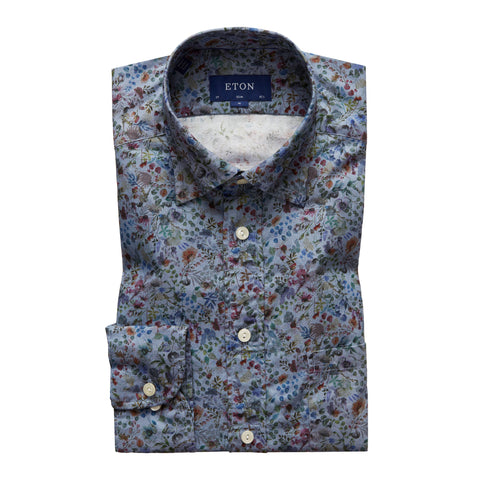 Floral Printed Twill Shirt