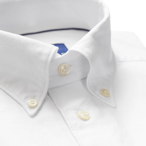 Soft White Cotton-Tencel Shirt