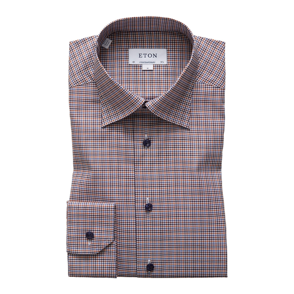 Contemporary Fit - Checked Twill Shirt