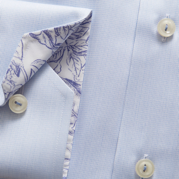 Flower Print Details Twill Shirt