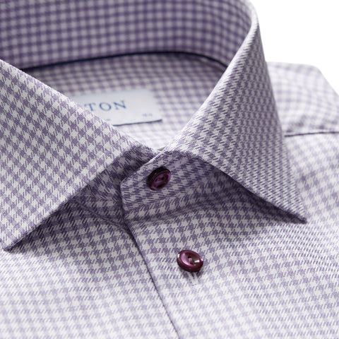 Slim Fit - Houndstooth Checked Shirt