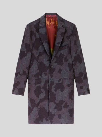 Camouflage Wool Coat