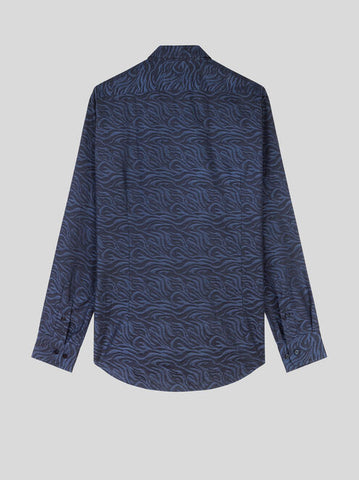 Animal Print Jacquard Shirt