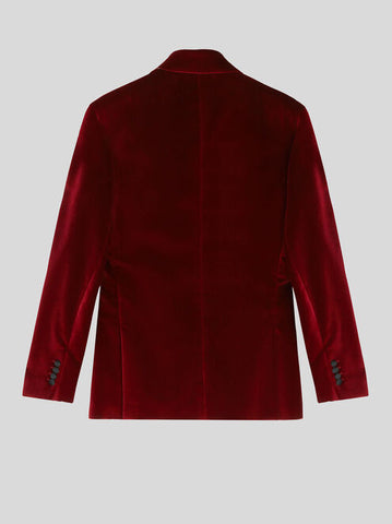 Velvet Jacket with Contrasting Lapels