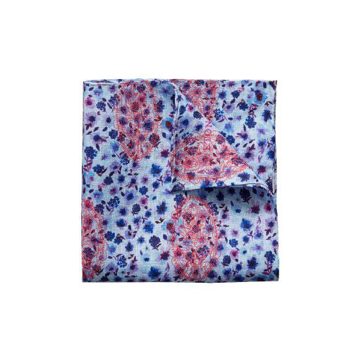 Floral Linen Pocket Square