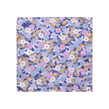 Retro Flower Print Pocket Square