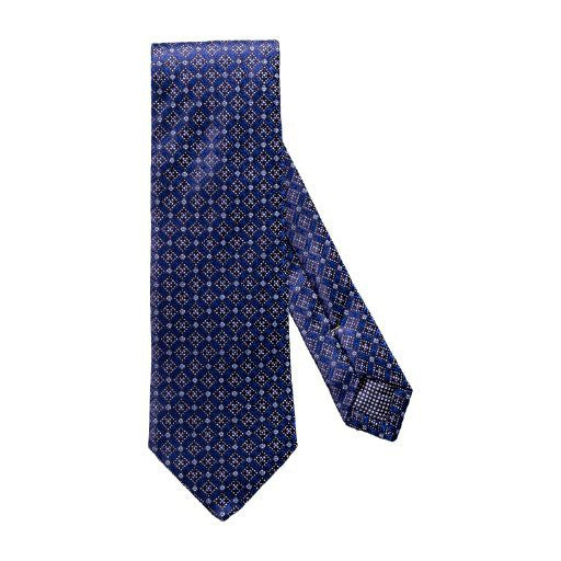 Diamond/Dot Print Silk Tie