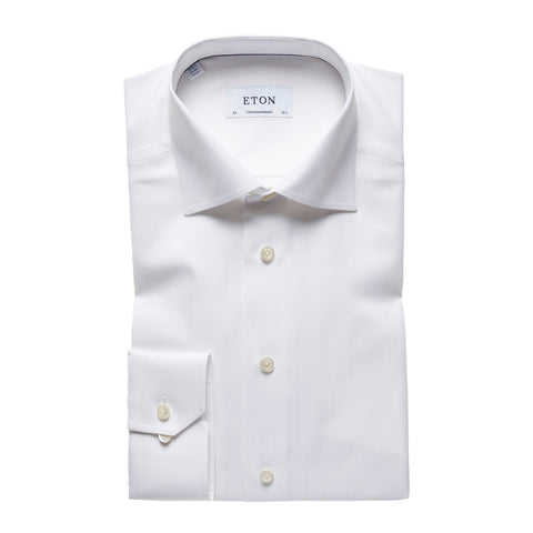 Herringbone Cotton-Tencel Shirt