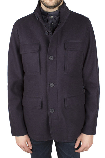Wool-Blend Field Coat