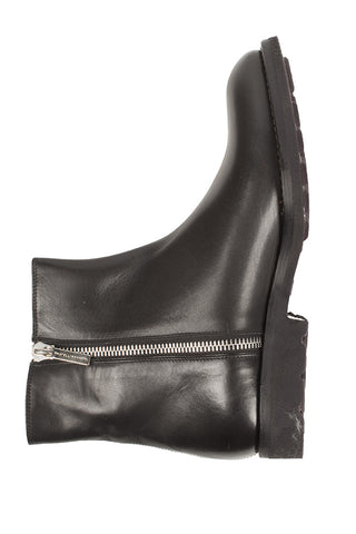 Leather Zip Boot