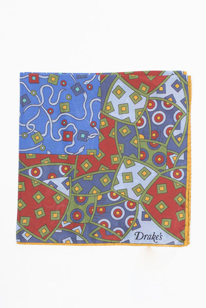 Stain Glass Printed Pocket Square