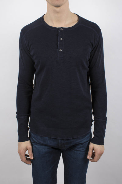 Slub Long Sleeve Henley