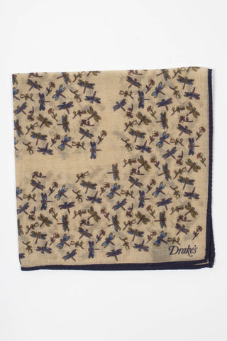 Dragonfly Printed Pocket Square