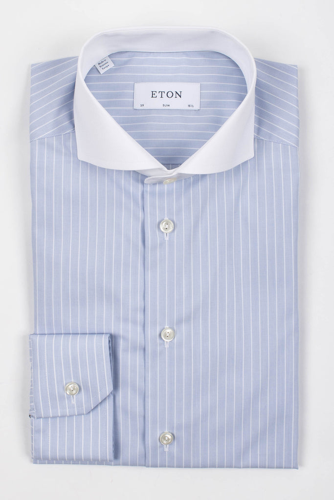 Stripe Shirt-White Collar