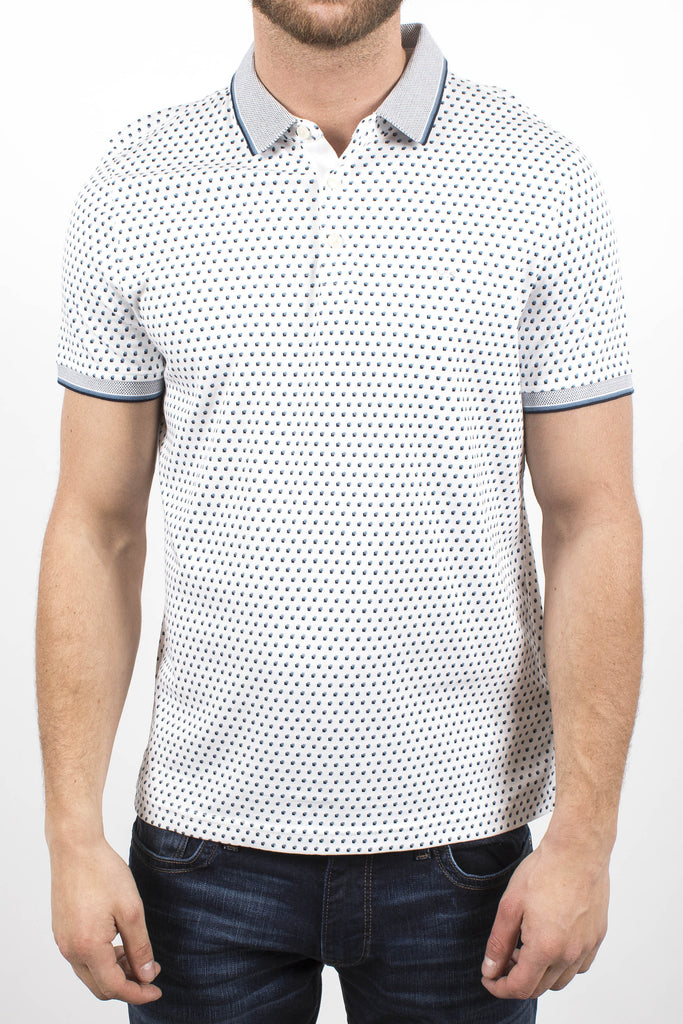 Dotted Printed Polo