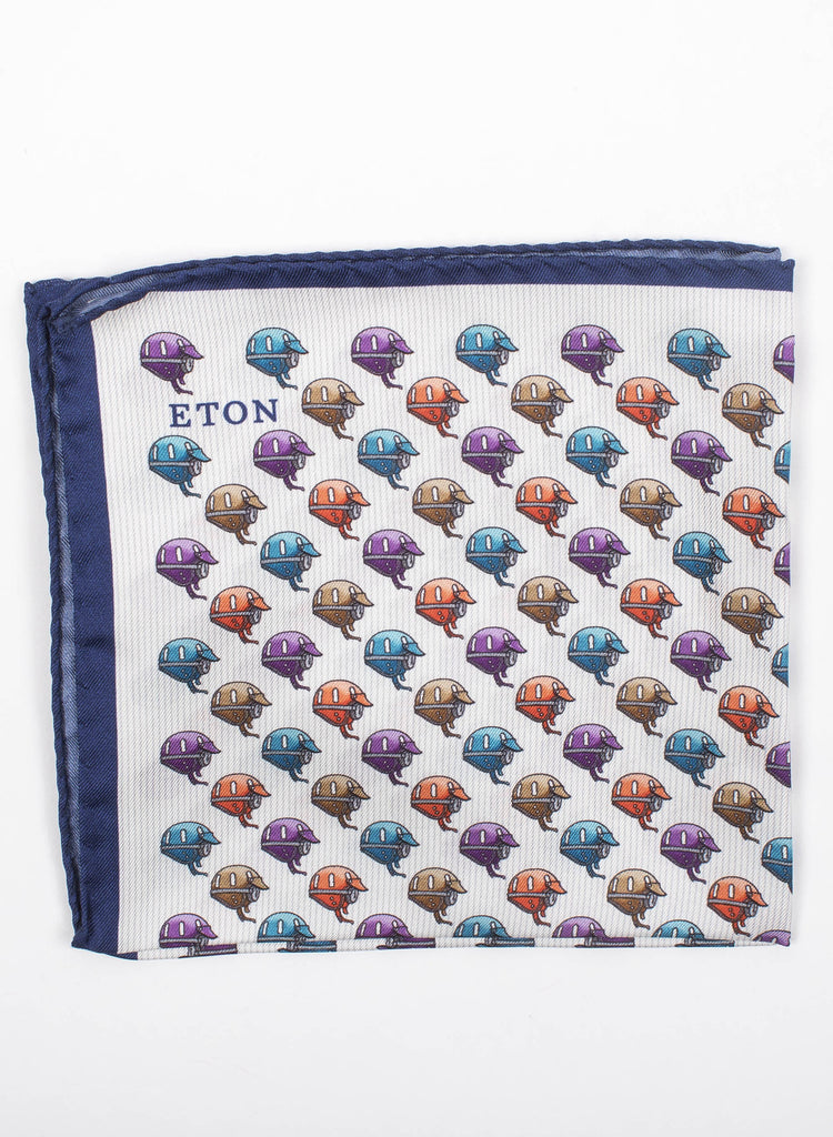 Helmet Print Pocket Square