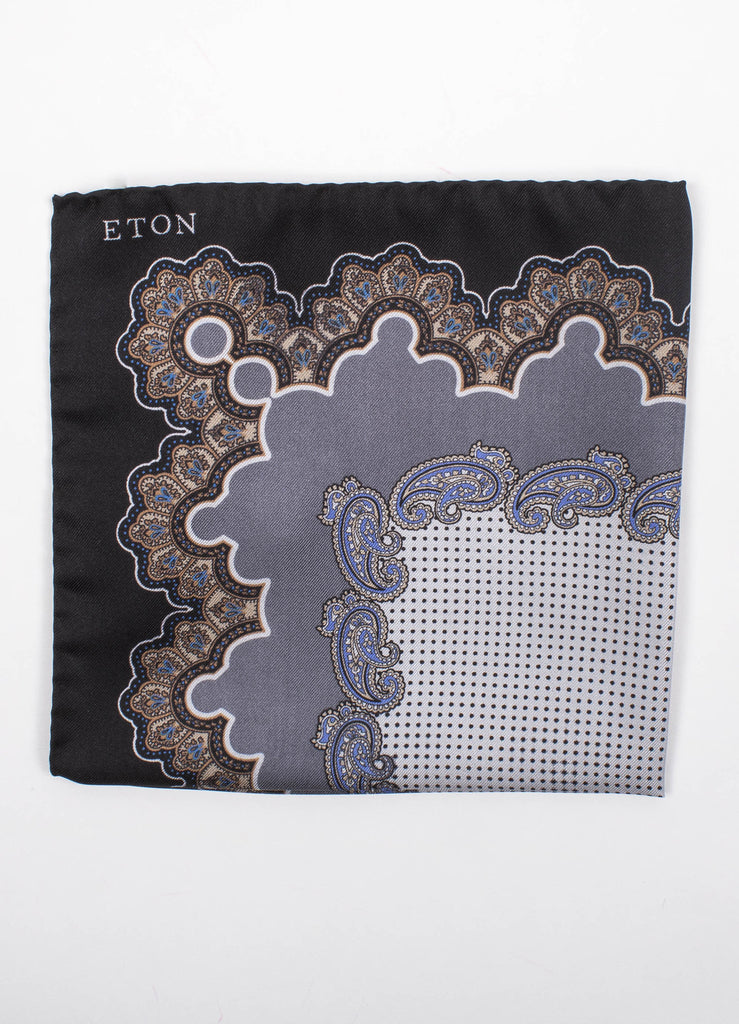 Paisley & Dotted Print Pocket Square