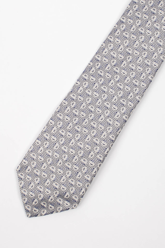Feather Print Tie