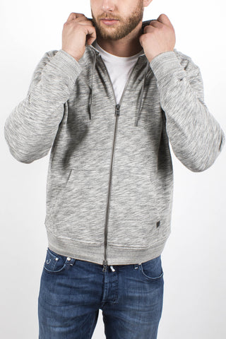 French Terry Zipped Hoodie