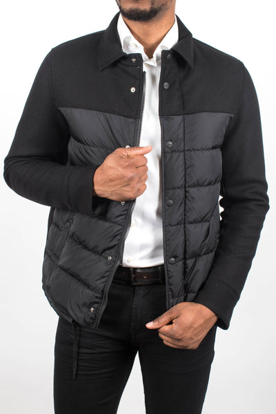 Quilted Down Shirt Jacket